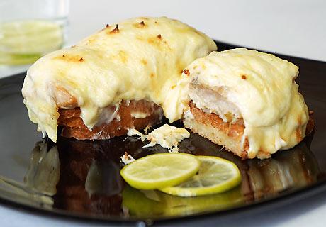 очетрина запеченная с сыром: